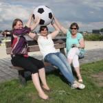 Sjoukje, Dettie and Froukje in Grou, Frl (NL).