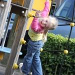 Danique at the playground
